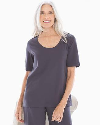 Cotton Blend Short Sleeve Pajama Top Nine Iron