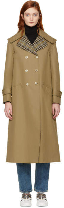 Gucci Beige Tulipa Orphanidea Moth Trench Coat