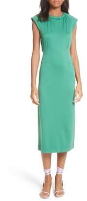Tibi Corset Back Cutout Dress