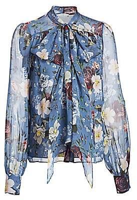 Erdem Women's Lucien Floral Silk Blouse