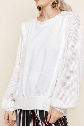 Umgee USA Knit Ruffle Top