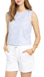 1901 Stripe Eyelet Top