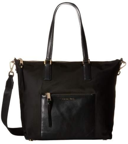 Michael Kors Women's Large Ariana Nylon Tote Nylon Shoulder Bag Satchel - Black - BLACK - STYLE