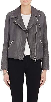 Barneys New York Women's Lambskin Moto Jacket