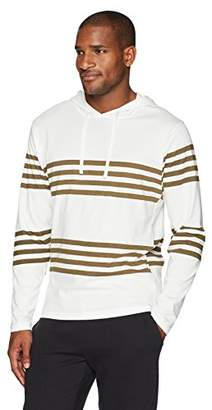 Flying Ace Men's Jersey Hooded Raglan Long Sleeve T-Shirt with Stripes