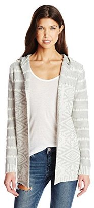 Element Junior's Life Cardigan Hooded Sweater $65 thestylecure.com
