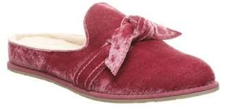 BearPaw Liberty Suede Genuine Sheepskin Footbed Slipper