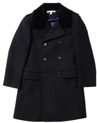Isaac Mizrahi Wool Blend Peacoat (Toddler, Little Boys, & Big Boys)