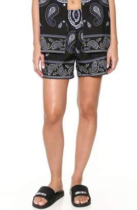 Adam Selman Paisley Unisex Shorts