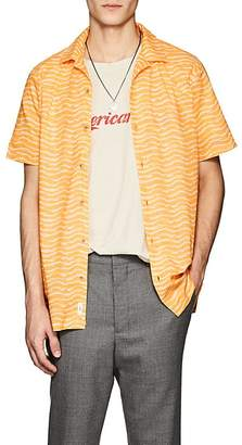 Onia Men's Wave-Print Cotton Camp Shirt
