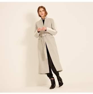 Amanda Wakeley Grey Belted Wool Coat