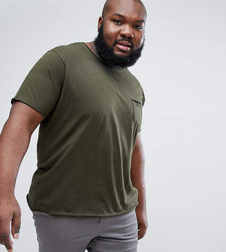 Brave Soul PLUS Basic Raw Edge T-Shirt