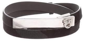 Salvatore Ferragamo Ponyhair Buckle Belt