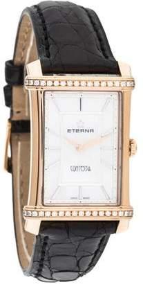 Eterna Contessa Watch w/ Crocodile Strap w/ Tags