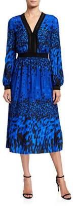 Ted Baker Topaz Printed Long-Sleeve Midi Dress