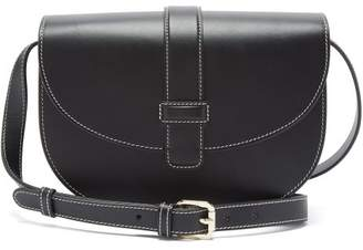 A.P.C. Eloise Leather Saddle Bag - Womens - Black