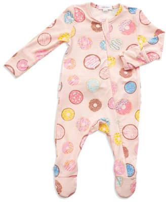 Angel Dear Donuts Print Zipper Footie Pajamas, Size Newborn-9 Months