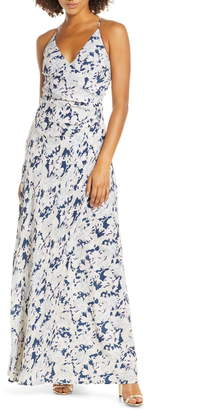 WAYF The Allison Faux Wrap Gown