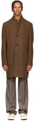 BOSS Brown Wool Sergio Coat