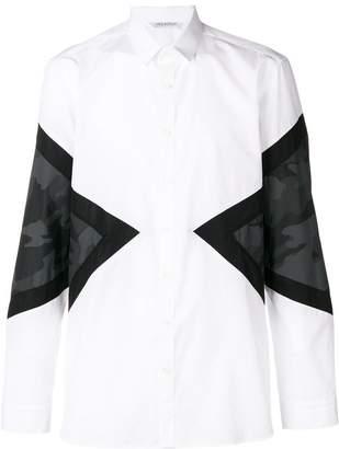 Neil Barrett color blocked classic shirt