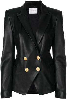 Pierre Balmain double-breasted leather jacket
