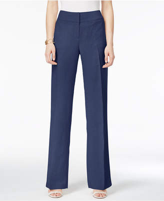 Alfani Linen Wide-Leg Trousers, Only at Macy's $69.50 thestylecure.com