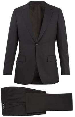 Kilgour Birdseye Single Breasted Wool Suit - Mens - Charcoal