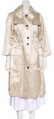 Marc Jacobs Satin A-Line Coat