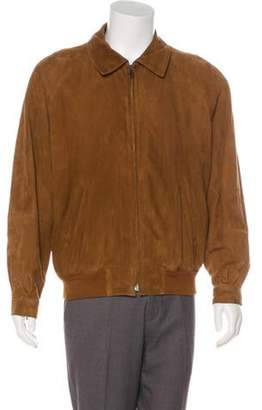 Salvatore Ferragamo Suede Bomber Jacket brown Suede Bomber Jacket