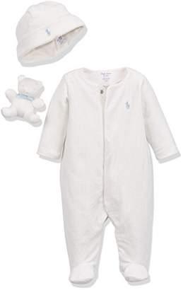 Ralph Lauren Polo Baby Velour AC-GBX Gift Box Set Footies,3-6 Months