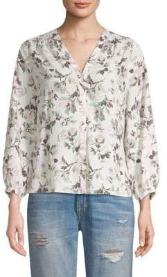 Rebecca Taylor Sofia Long Sleeve Silk Top