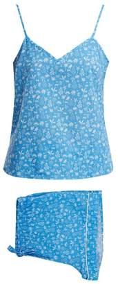 Derek Rose - Ledbury 8 Tropical Print Pyjama Set - Womens - Blue Print