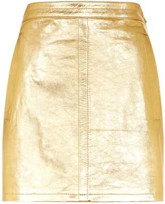 Philosophy di Lorenzo Serafini Metallic Leather Mini Skirt