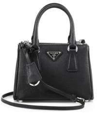 Prada Mini Saffiano Leather Double-Zip Satchel