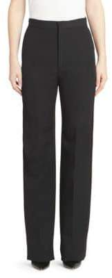 Givenchy High Waist Side Panel Wool Pants
