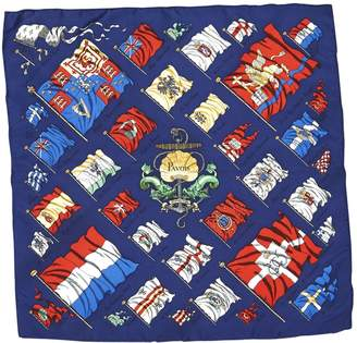 Hermes Navy Silk Scarves & pocket squares