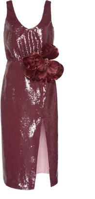Johanna Ortiz Tarantella Embellished Sequined Midi Dress