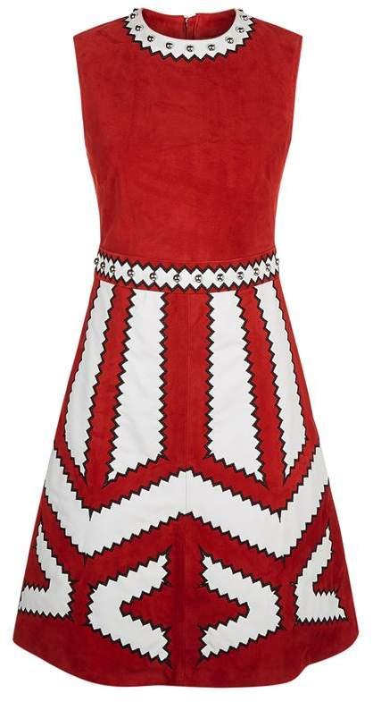 Embellished Suede Dress