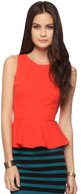Forever 21 Sleeveless Peplum Top