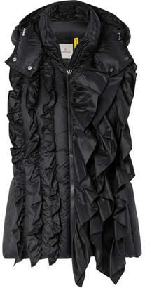 Simone Rocha Moncler Genius - 4 Ruffled Quilted Shell Vest - Black