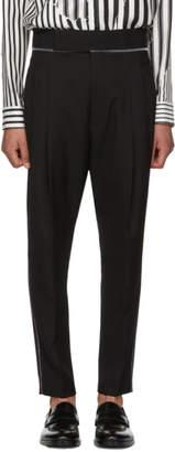 Haider Ackermann Black Wool Classic High-Waisted Trousers