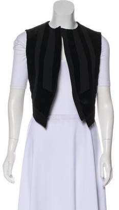 Derek Lam Asymmetrical Shearling Vest