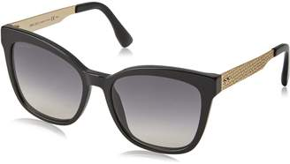 Jimmy Choo OFE Black/Gold Junia S Wayfarer Sunglasses Lens Category 2 Size 55