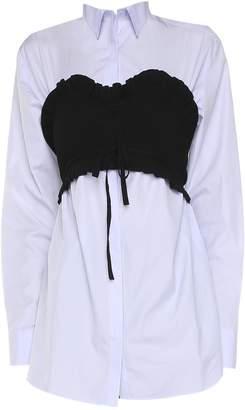 Kenzo Cotton-poplin Bustier Shirt