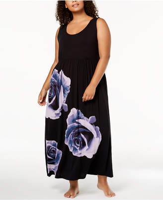 INC International Concepts I.n.c. Plus Size Rose-Graphic Nightgown