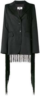 MM6 MAISON MARGIELA fringed trim blazer