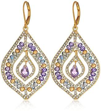 lonna & lilly Gold-Tone and Crystal Beaded Chandelier Earrings