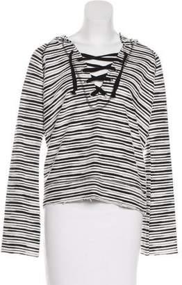 Sanctuary Striped Hooded Sweatshirt