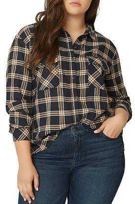 Sanctuary Curve Boyfriend For Life Plaid Shirt