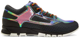 Lanvin Black Iridescent Sneakers